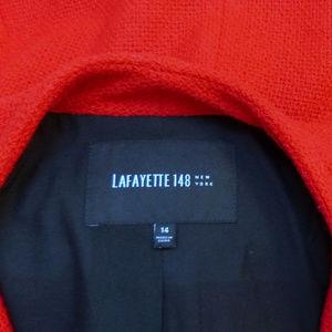 Lafayette 148 New York Jackets & Coats - Brilliant Lafayette 148 Blazer Jacket 14 Red Wool